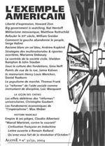 Couverture de REVUE AGONE T.31/32 ; l'exemple américain
