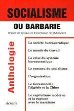 Couverture de Socialisme ou barbarie ; organe de critique et d'orientation révolutionnaire