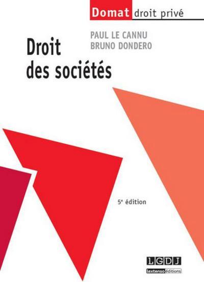 Droit Des Societes (5e Edition)
