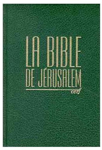 La Bible De Jerusalem Compacte Skivertex Vert