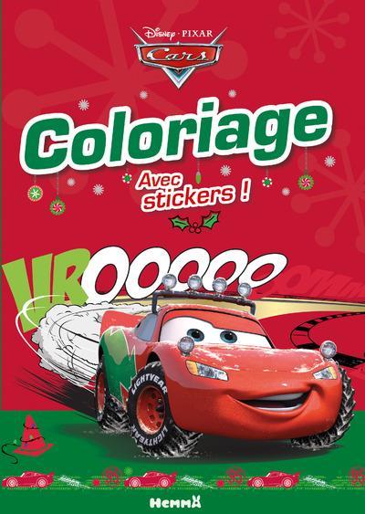Coloriage avec stickers ; Cars