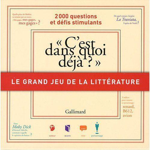 Le Grand Jeu De La Litterature (C'Est Dans Quoi Deja ?)