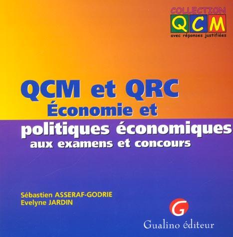 Qcm Et Qrc Economie Et Politiques Economiques Aux Examens Et Concours