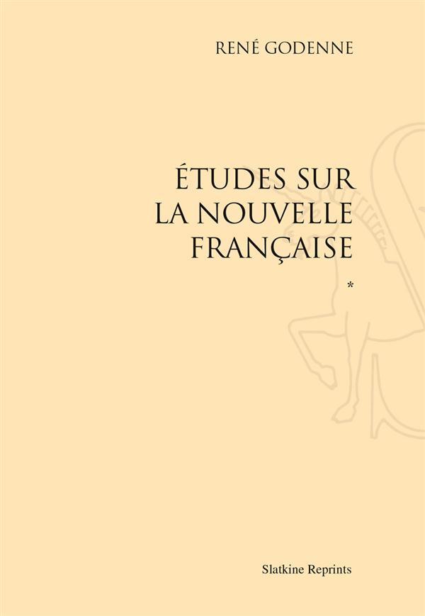 Études sur la nouvelle française