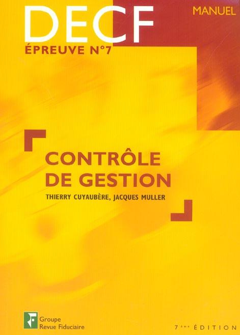 Controle De Gestion Decf Epreuve No7 Manuel