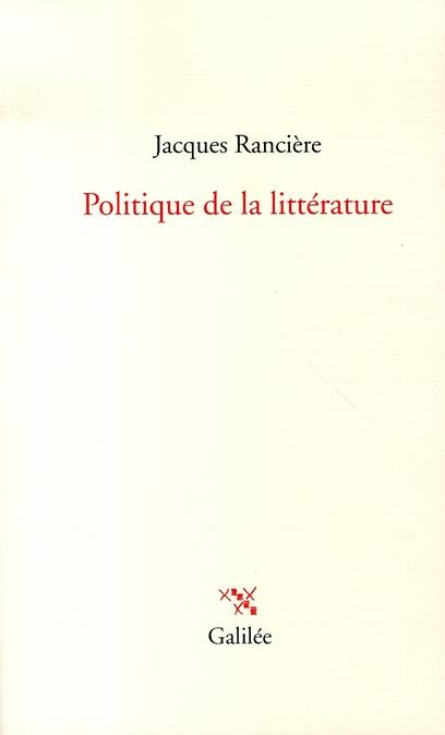 POLITIQUE DE LA LITTERATURE