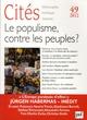 CITES 49 : LE POPULISME, CONTRE LES PEUPLES?
