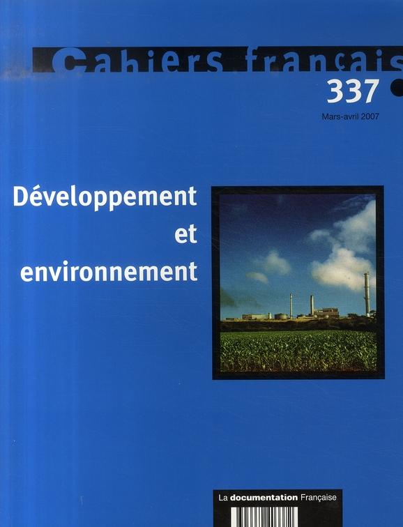 Developpement Et Environnement