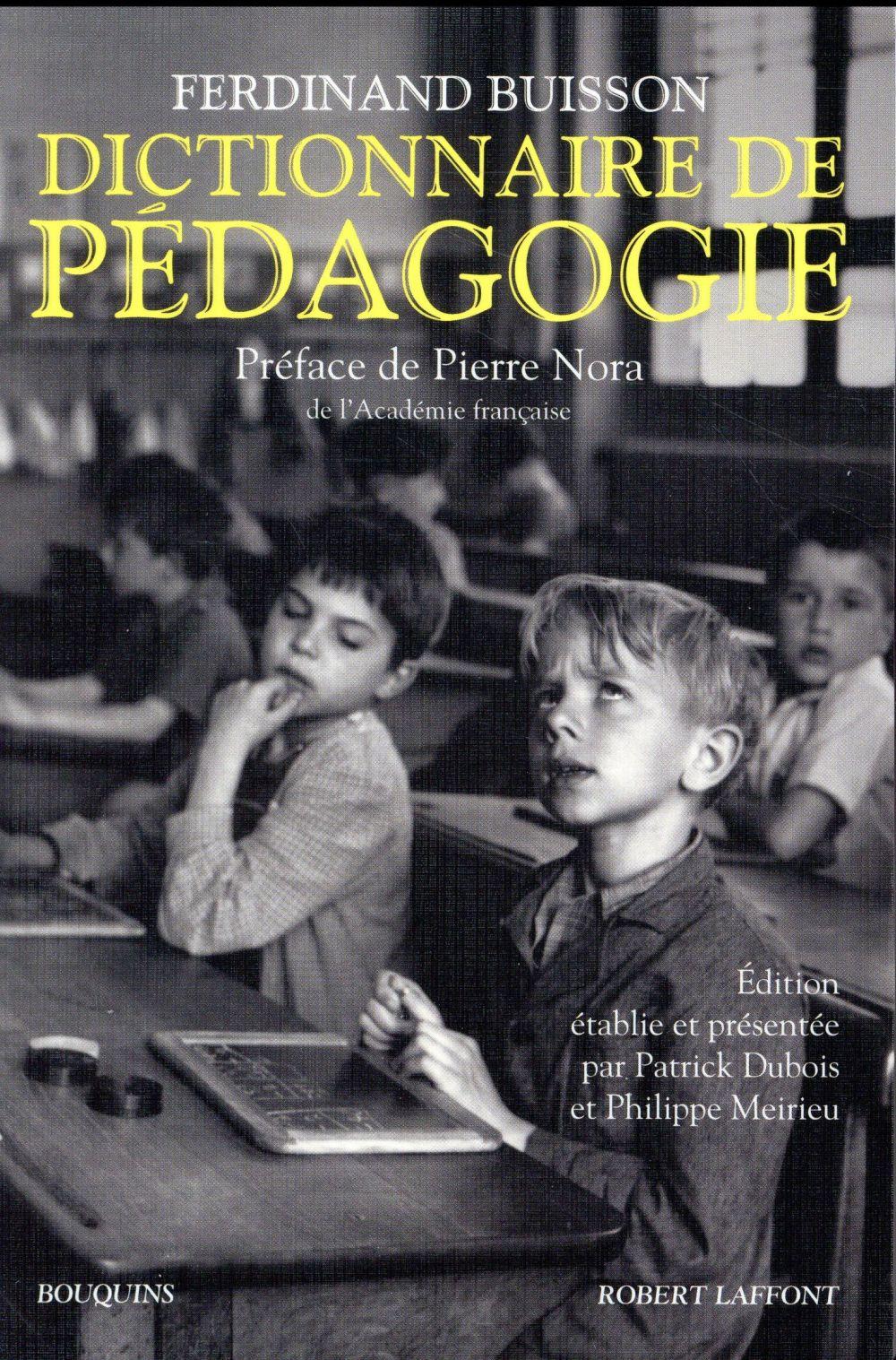 DICTIONNAIRE DE PEDAGOGIE