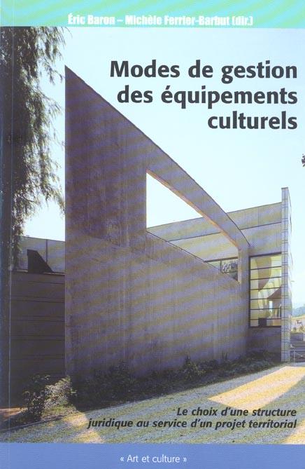 Modes De Gestion Des Equipements Culturels