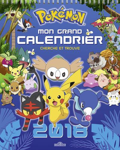 Pokémon ; mon grand calendrier ; cherche et trouve (édition 2018)