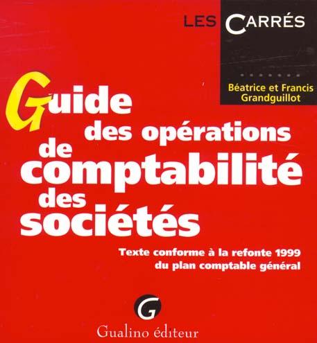 Guide Des Operations De Comptabilite Des Societes