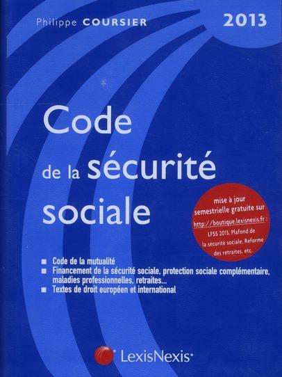 Code De La Securite Sociale ; 2013