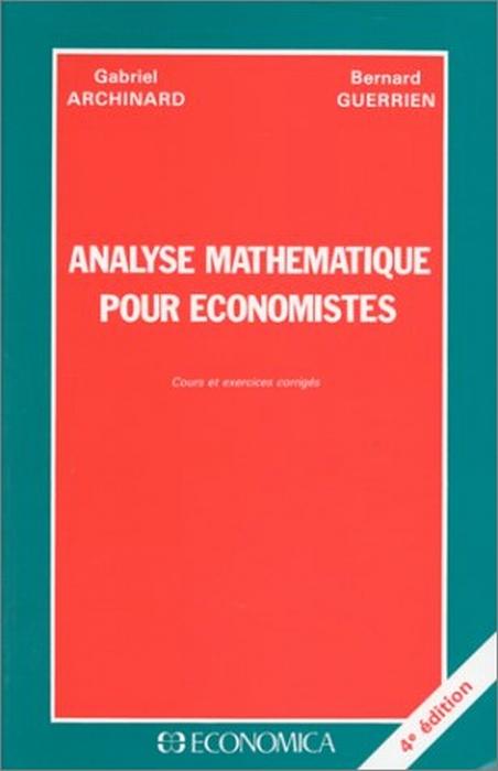Analyse Mathematique Pour Economistes