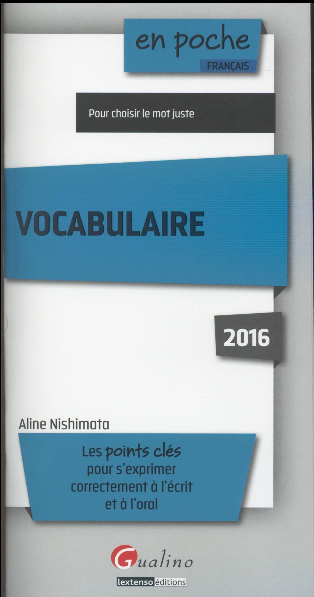 Vocabulaire 2016