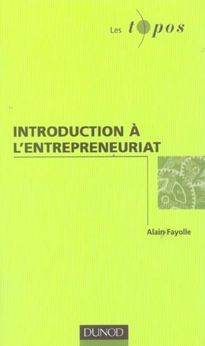 Introduction A L'Entrepreneuriat