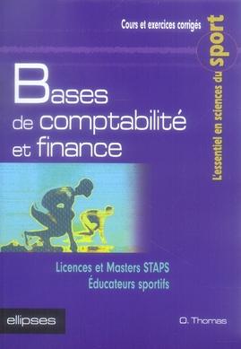 Bases De Comptabilite Et Finance ; Staps