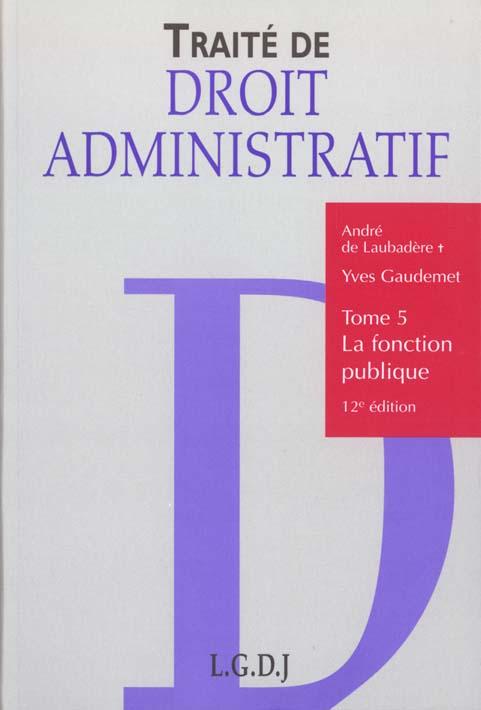 Droit Administratif 5 Fonction Publique
