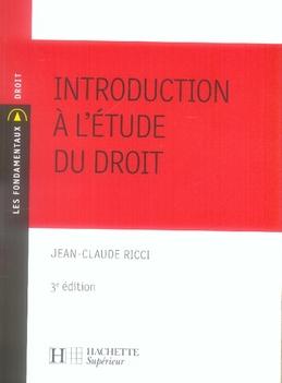 Introduction A L'Etude Du Droit