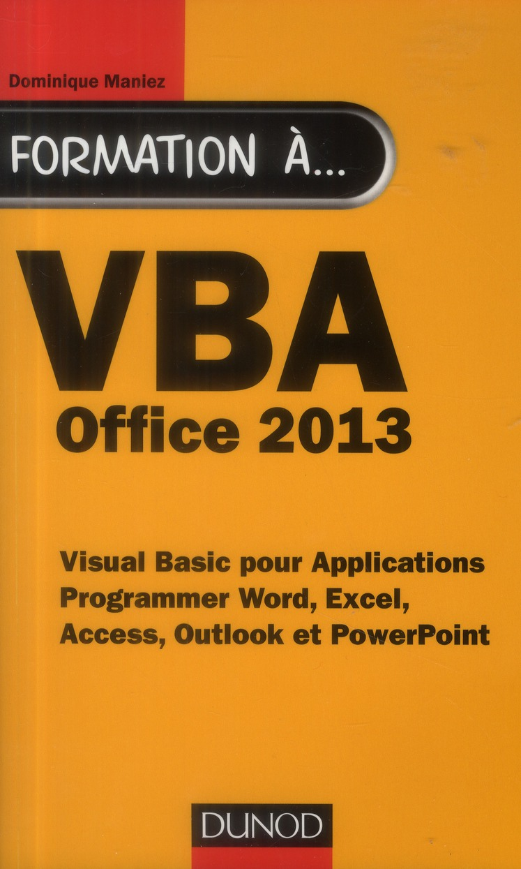 Formation A Vba - Office 2013