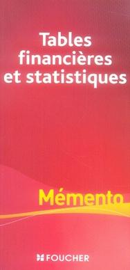 Tables Financieres Et Statistiques