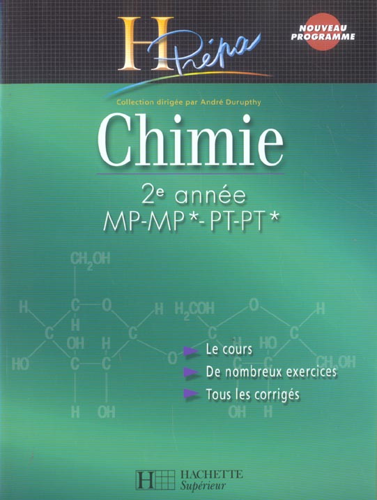 Chimie ; 2eme Annee Mp-Mp*-Pt-Pt*