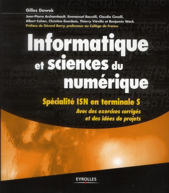 Informatique Et Sciences Du Numerique ; Specialite Isn En Terminales