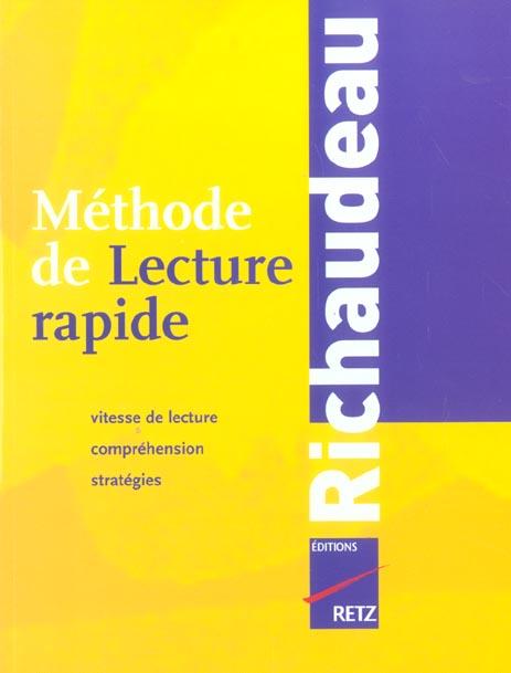 Methode De Lecture Rapide Richaudeau