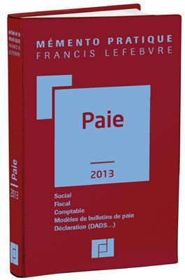 Memento Pratique; Paie (Edition 2013)