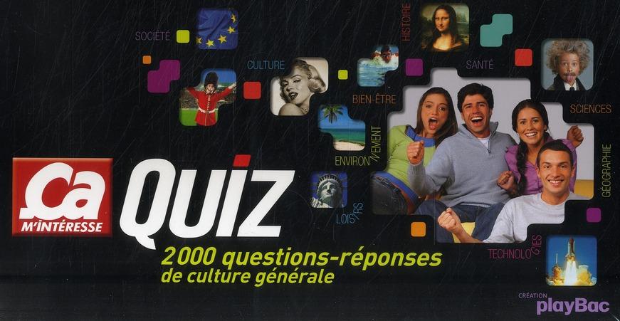 Ca M'Interesse ; Coffret Quiz : 2000 Questions/Reponses