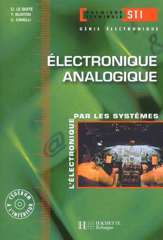 Electronique Analogique 1re Et Term. Sti - Livre L'Eleve - Ed. 2002
