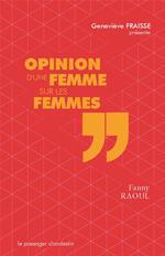 Couverture de Opinion d'une femme sur les femmes