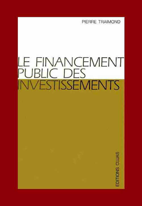 Le Financement Public Des Investissements