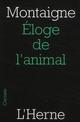ELOGE DE L'ANIMAL