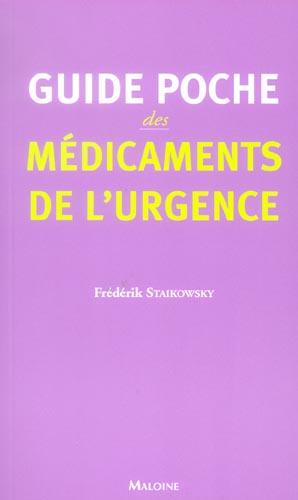 Guide Poche Des Medicaments De L Urgence