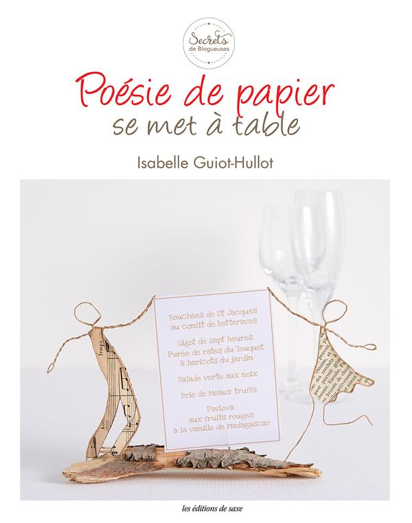 Poesie de papier se met a table