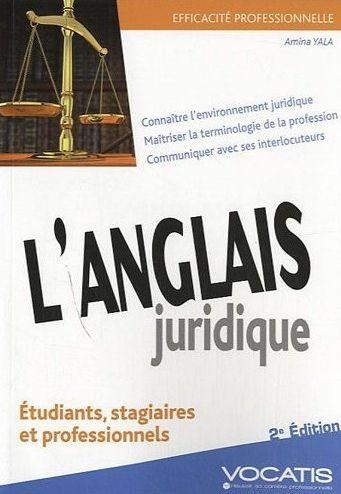 L'Anglais Juridique (2e Edition)
