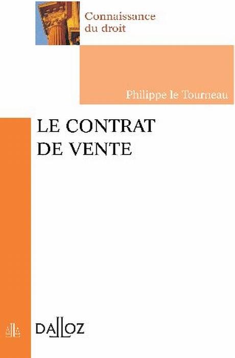 Le Contrat De Vente - 1ere Edition