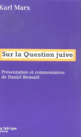 Sur La Question Juive