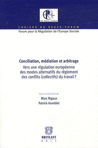 Conciliation, Mediation Et Arbitrage