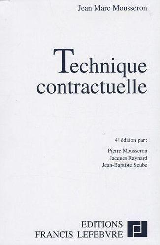 Technique Contractuelle (4e Edition)