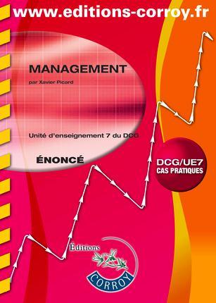 Management ; Unite D'Enseignement 7 Du Dcg ; Enonce (6e Edition)