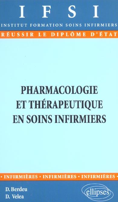Pharmacologie Et Therapeutique En Soins Infirmiers