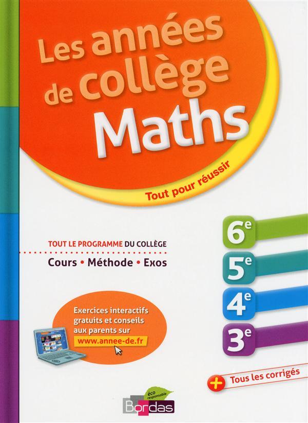 L'Annee De; College ; Mathematiques ; Tout Pour Reussir