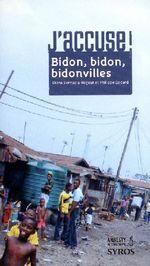 Couverture de Bidon bidon bidonvilles
