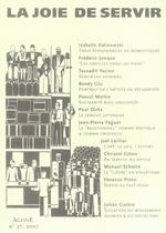 Couverture de REVUE AGONE T.37 ; la joie de servir