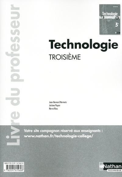 Technologie ; 3eme ; Livre Du Professeur (Edition 2011)
