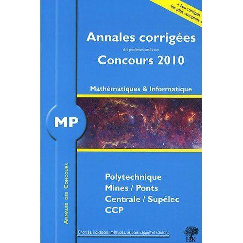 Annales 2010 Mp Maths Informatique
