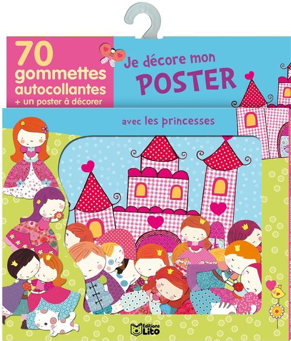 Je Decore Mon Poster Avec Les Gommettes ; Les Princesses