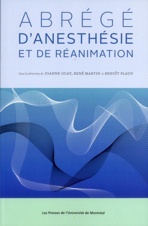 Abrege D'Anesthesie Et De Reanimation